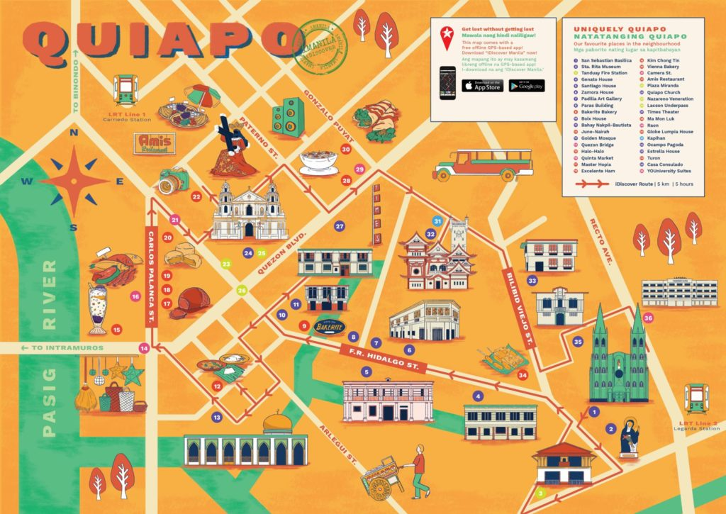 Quiapo vicinity map