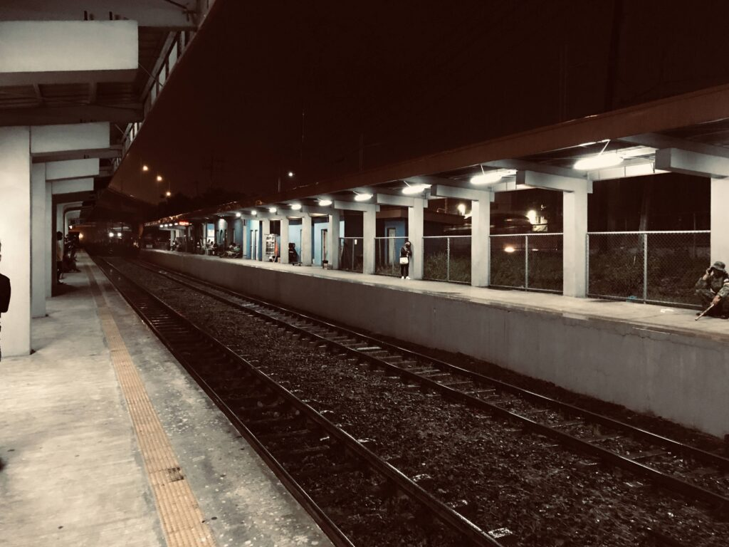PNR station at night